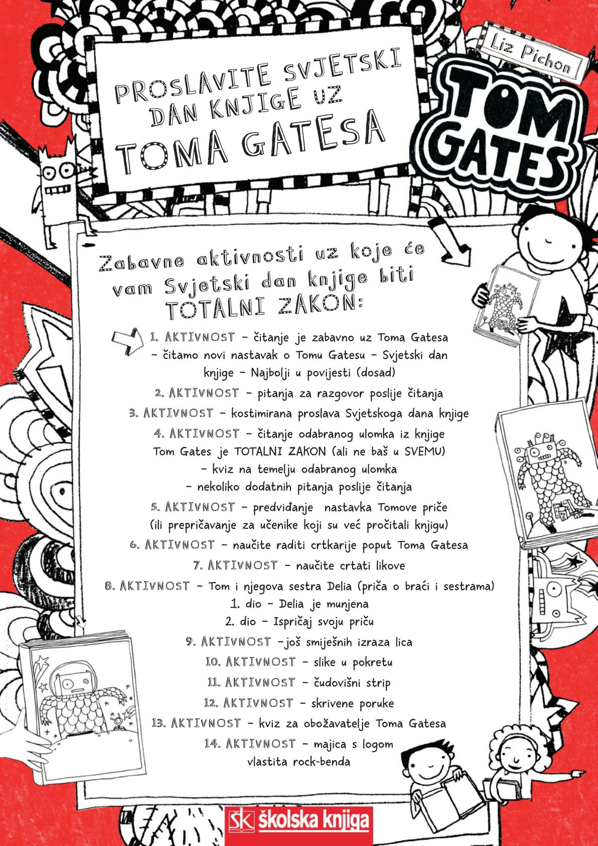 Tom Gates - noć knjige
